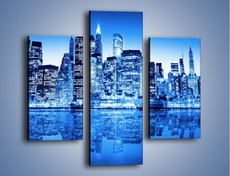 Obraz na płótnie – Odbicie miasta w tafli wody – trzyczęściowy AM004W3