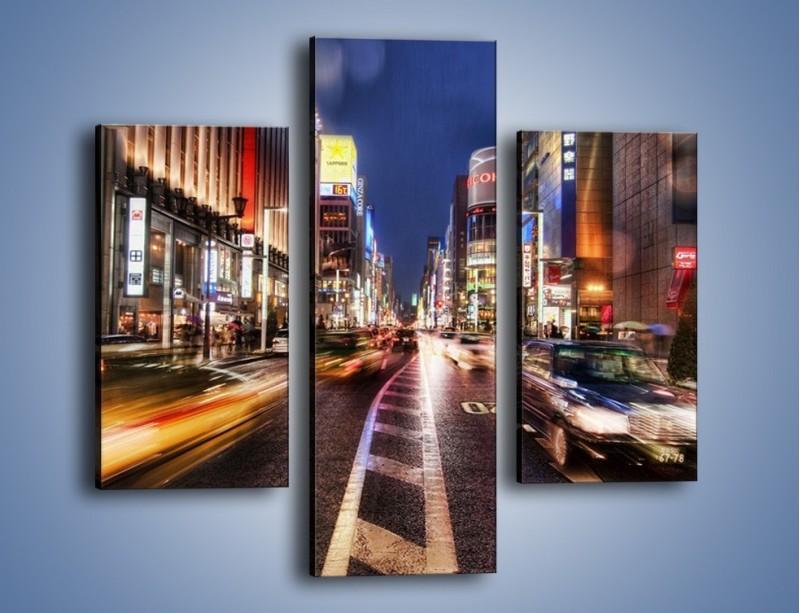Obraz na płótnie – Tokyo w ruchu – trzyczęściowy AM015W3