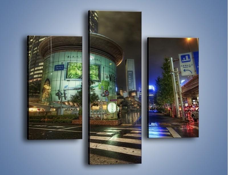 Obraz na płótnie – Spokojne Tokyo nocą – trzyczęściowy AM056W3