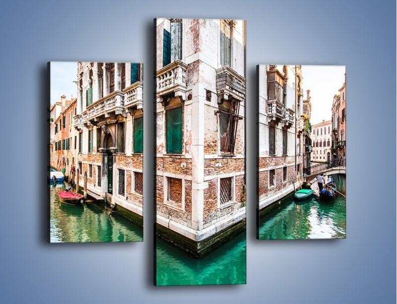 Obraz na płótnie – Skrzyżowanie wodne w Wenecji – trzyczęściowy AM081W3