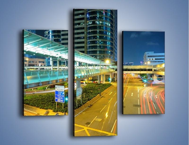 Obraz na płótnie – Droga na lotnisko w Japonii – trzyczęściowy AM088W3