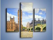 Obraz na płótnie – Big Ben w pochmurny dzień – trzyczęściowy AM095W3