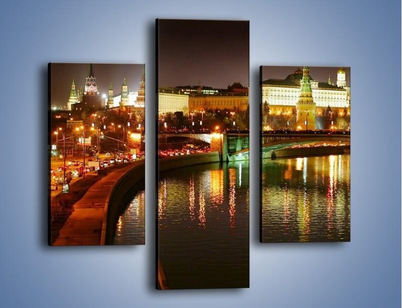 Obraz na płótnie – Moskwa nocą – trzyczęściowy AM118W3