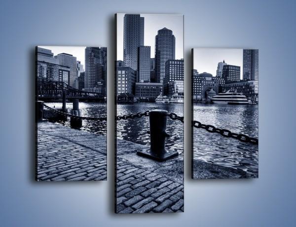 Obraz na płótnie – Wybrukowana wybrzeże miasta – trzyczęściowy AM132W3