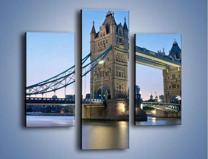Obraz na płótnie – Tower Bridge o poranku – trzyczęściowy AM143W3