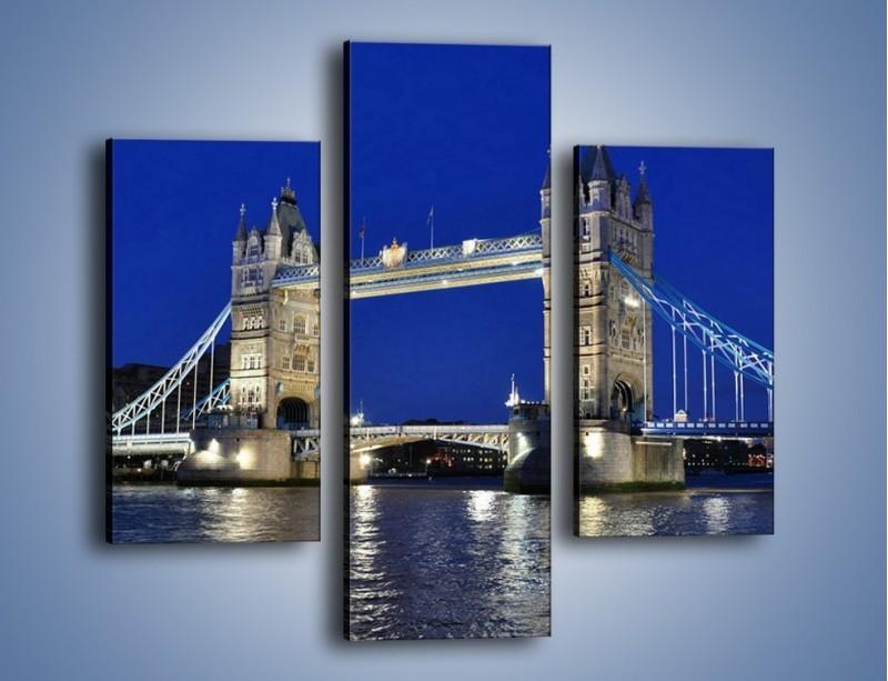 Obraz na płótnie – Tower Bridge nocą – trzyczęściowy AM145W3