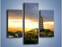 Obraz na płótnie – Azjatycka architektura o poranku – trzyczęściowy AM151W3