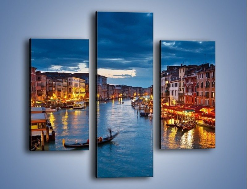 Obraz na płótnie – Wenecja romantyczną porą – trzyczęściowy AM163W3
