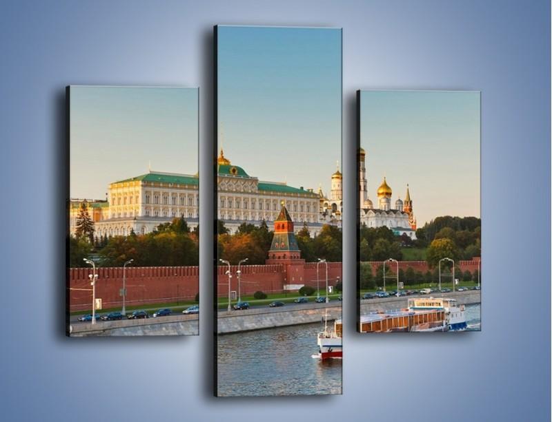 Obraz na płótnie – Kreml w środku lata – trzyczęściowy AM164W3
