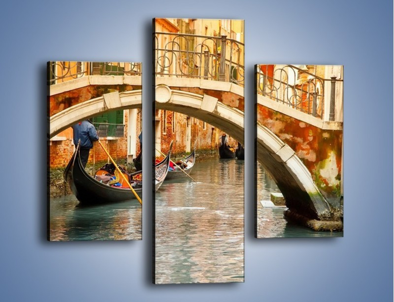 Obraz na płótnie – Weneckie gondole – trzyczęściowy AM172W3