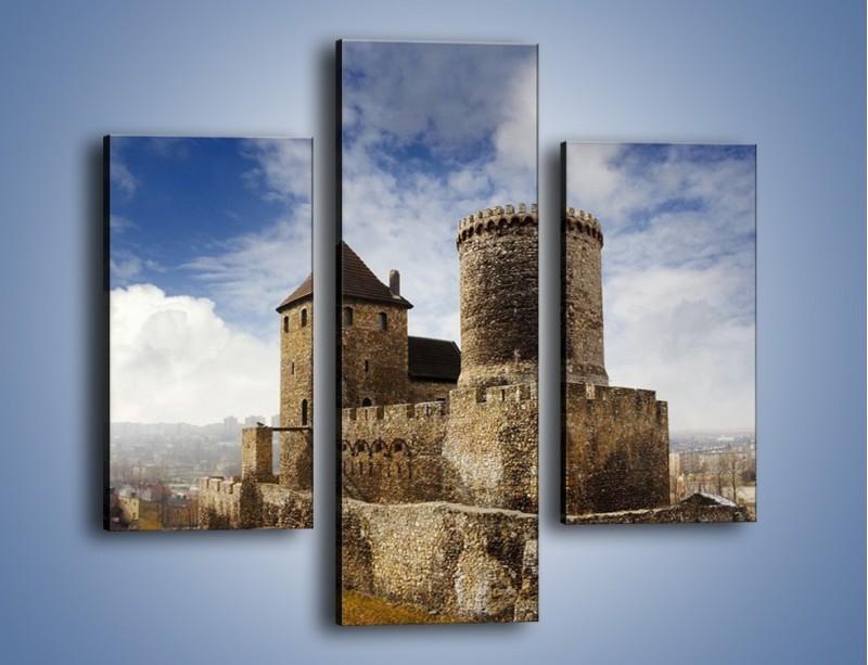 Obraz na płótnie – Średniowieczna fortyfikacja – trzyczęściowy AM201W3