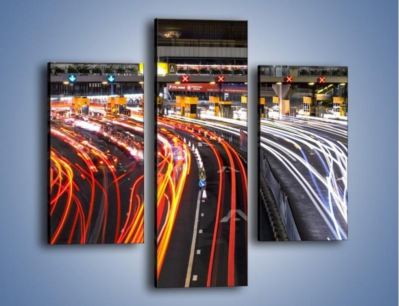 Obraz na płótnie – Autostradowa bramka w ruchu świateł – trzyczęściowy AM236W3