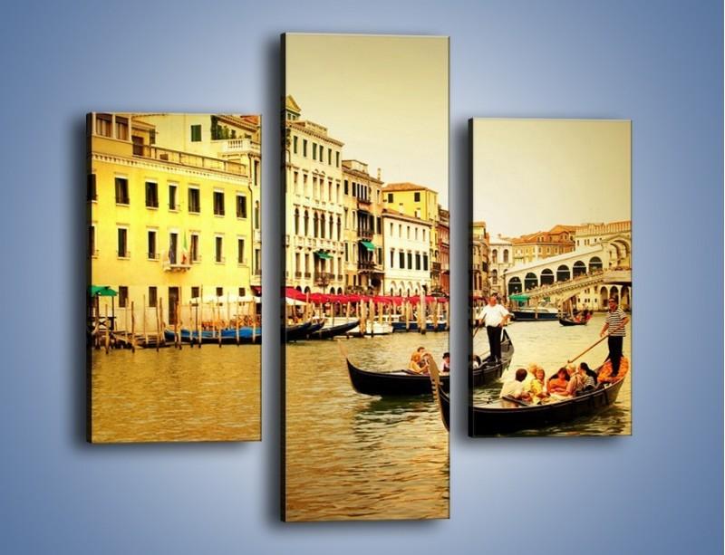 Obraz na płótnie – Wenecki rejs gondolą – trzyczęściowy AM240W3