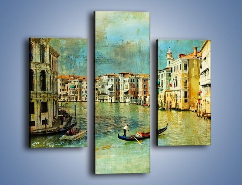 Obraz na płótnie – Weneckie lato w stylu vintage – trzyczęściowy AM245W3