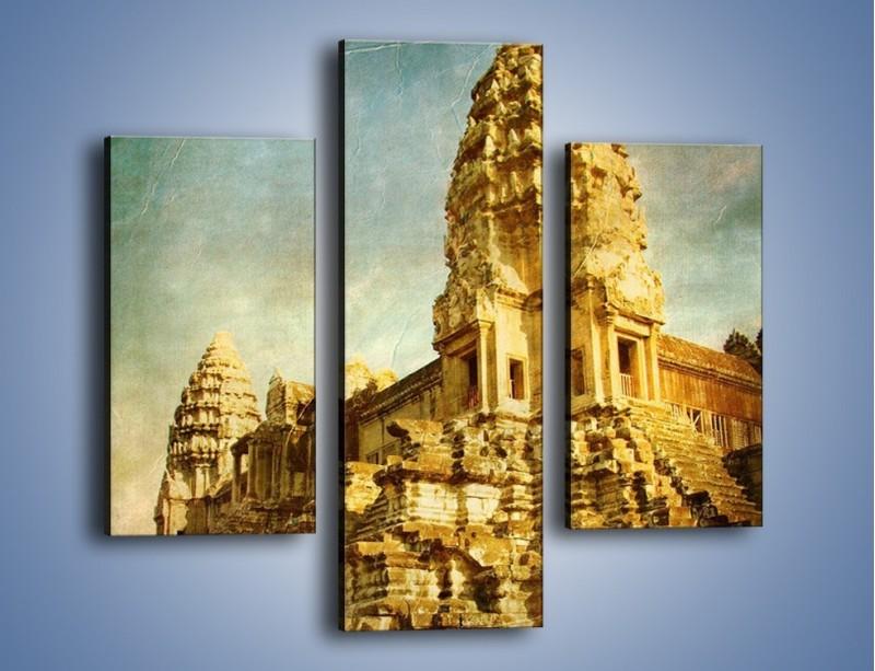 Obraz na płótnie – Starożytna architektura w stylu vintage – trzyczęściowy AM246W3