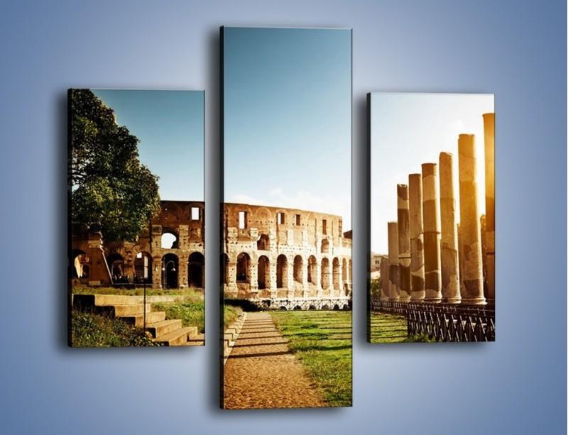 Obraz na płótnie – Koloseum w świetle słońca – trzyczęściowy AM269W3