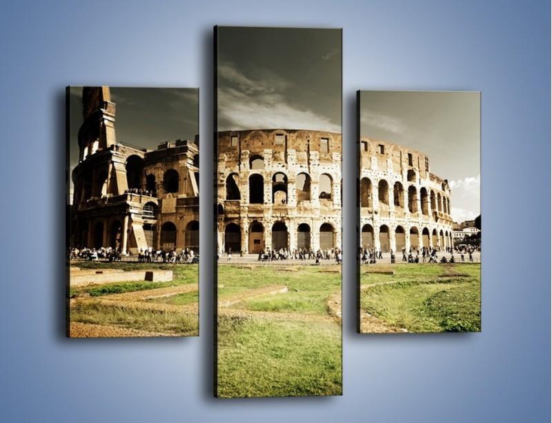 Obraz na płótnie – Koloseum przed burzą – trzyczęściowy AM271W3