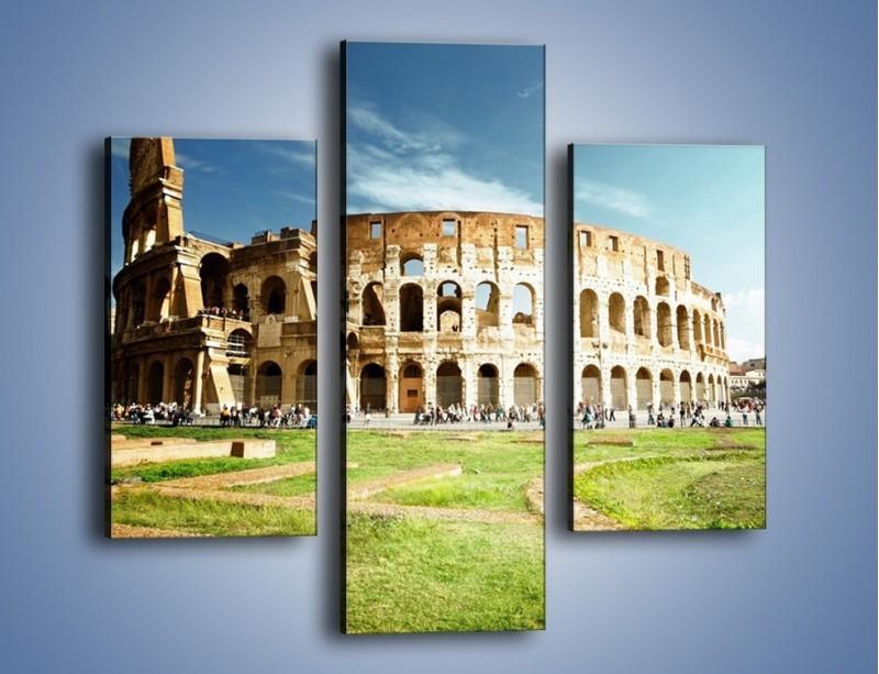 Obraz na płótnie – Koloseum w piękny dzień – trzyczęściowy AM273W3