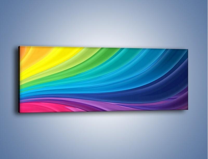 Obraz na płótnie – Zachowane kolory tęczy – jednoczęściowy panoramiczny GR424