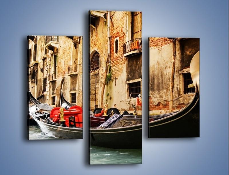 Obraz na płótnie – Wenecka gondola – trzyczęściowy AM286W3