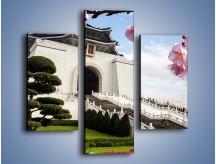 Obraz na płótnie – Azjatycka architektura – trzyczęściowy AM299W3