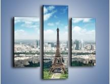 Obraz na płótnie – Chmury nad Wieżą Eiffla – trzyczęściowy AM302W3
