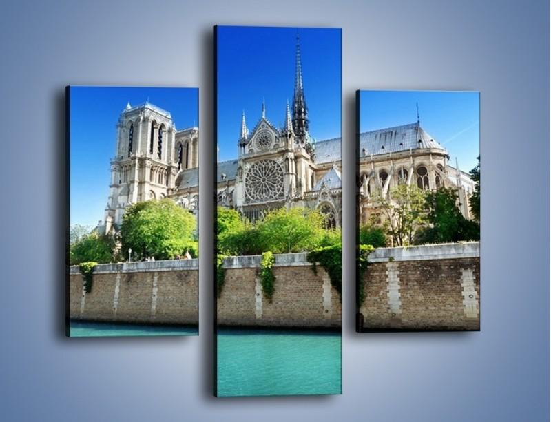 Obraz na płótnie – Katedra Notre-Dame – trzyczęściowy AM305W3