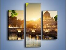 Obraz na płótnie – Bazylika w Rzymie o zachodzie słońca – trzyczęściowy AM306W3