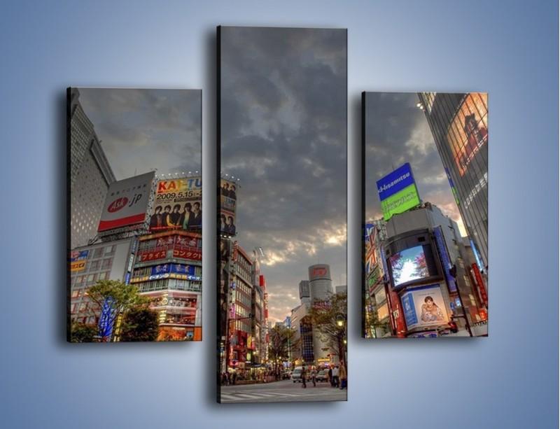Obraz na płótnie – Uliczny tłok w Tokyo – trzyczęściowy AM312W3