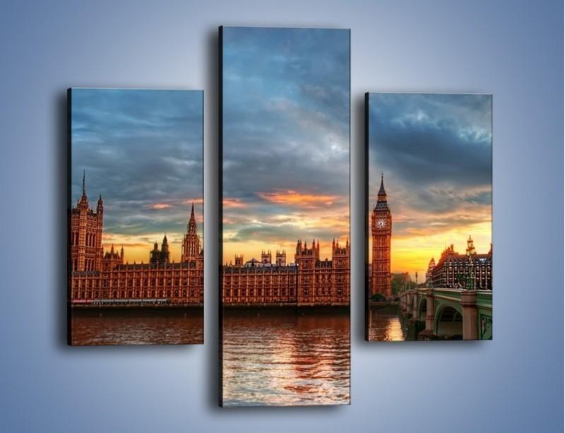 Obraz na płótnie – Pałac Westmnisterski i Big Ben – trzyczęściowy AM321W3