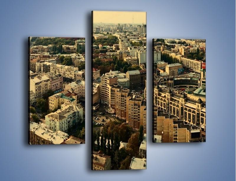 Obraz na płótnie – Panorama Kijowa – trzyczęściowy AM326W3