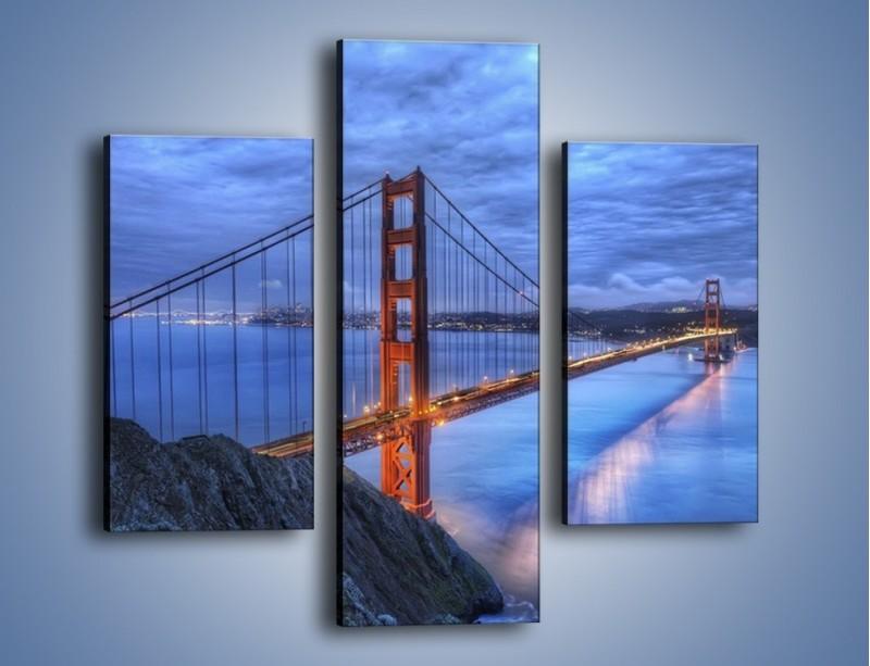 Obraz na płótnie – Most Golden Gate – trzyczęściowy AM328W3