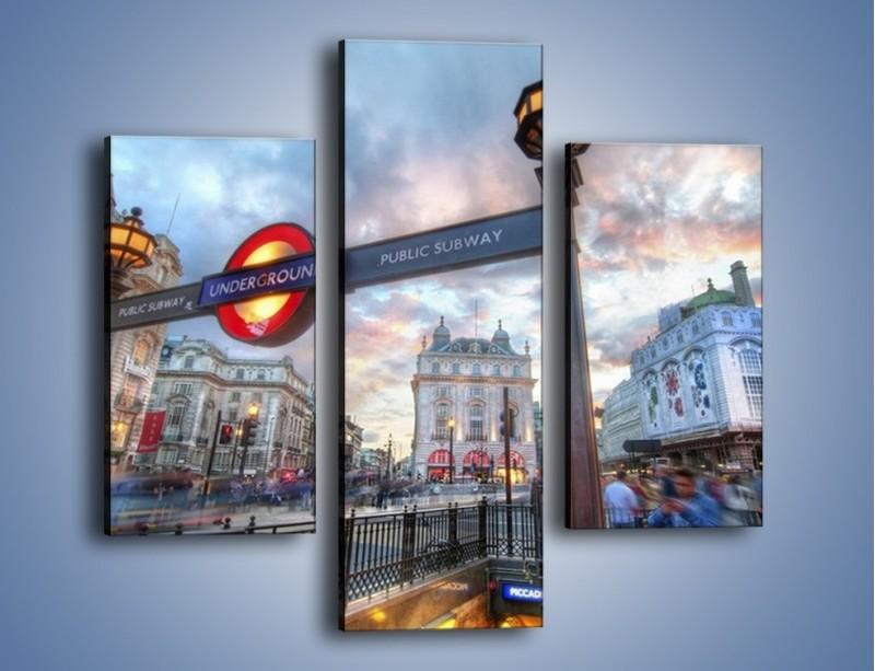 Obraz na płótnie – Wejście do londyńskiego metro – trzyczęściowy AM334W3