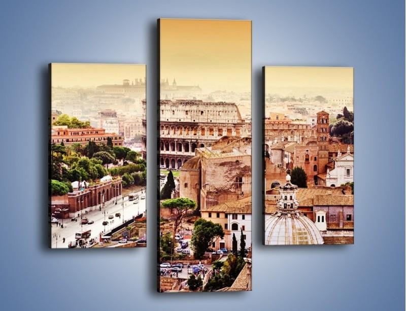 Obraz na płótnie – Panorama Rzymu – trzyczęściowy AM338W3