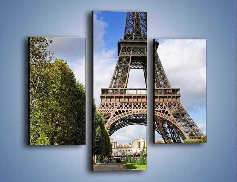 Obraz na płótnie – Wieża Eiffla – trzyczęściowy AM340W3
