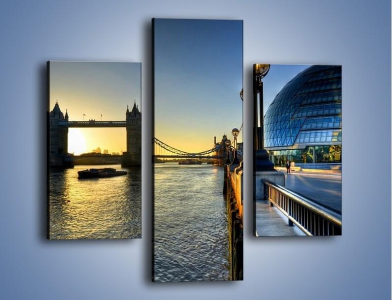 Obraz na płótnie – Londyński Tower Bridge – trzyczęściowy AM348W3
