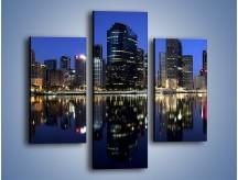 Obraz na płótnie – Brisbane w Australii nocą – trzyczęściowy AM354W3