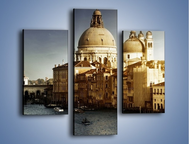 Obraz na płótnie – Zapadający zmrok na Wenecją – trzyczęściowy AM356W3