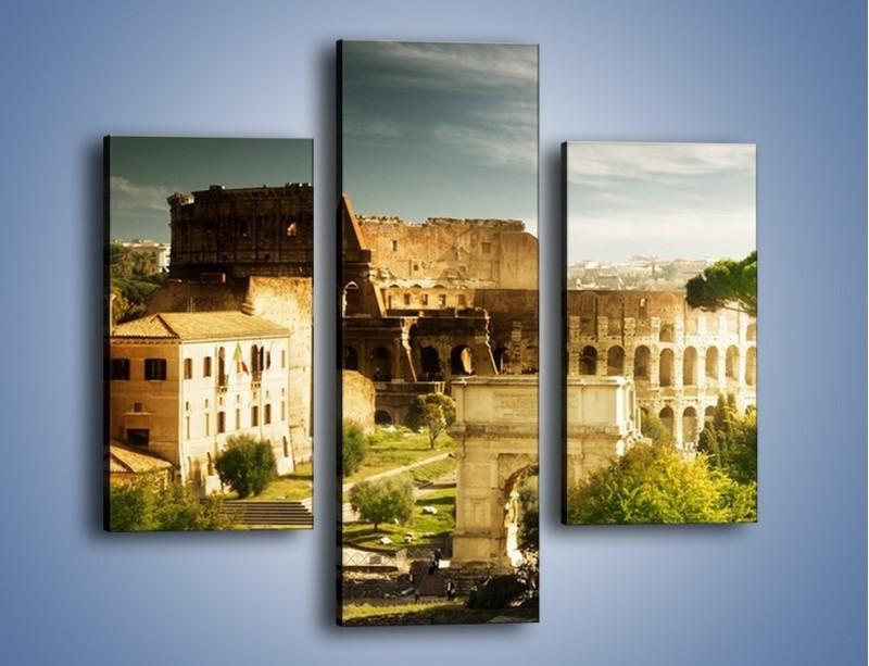 Obraz na płótnie – Ruiny starożytnego Rzymu – trzyczęściowy AM357W3