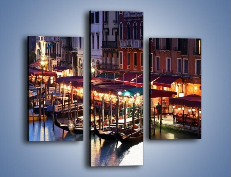 Obraz na płótnie – Wieczorowe życie w Wenecji – trzyczęściowy AM358W3
