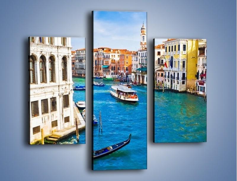 Obraz na płótnie – Kolorowy świat Wenecji – trzyczęściowy AM362W3
