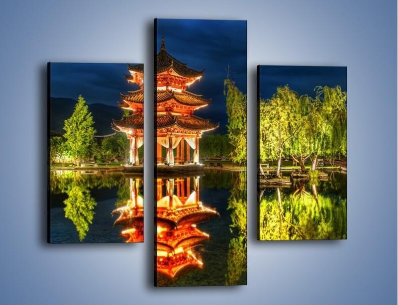 Obraz na płótnie – Urokliwy park w Chinach – trzyczęściowy AM365W3