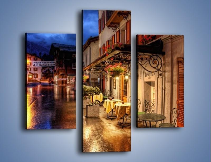 Obraz na płótnie – Romantyczne miasteczko pod Alpami – trzyczęściowy AM368W3