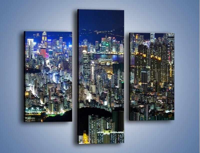 Obraz na płótnie – Drapacze chmur w Hong Kongu – trzyczęściowy AM369W3