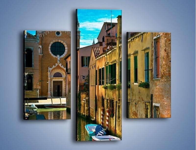 Obraz na płótnie – Cały urok Wenecji w jednym kadrze – trzyczęściowy AM371W3
