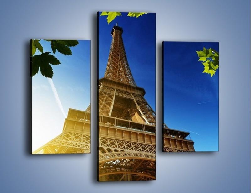 Obraz na płótnie – Wieża Eiffla w pełnej krasie – trzyczęściowy AM372W3