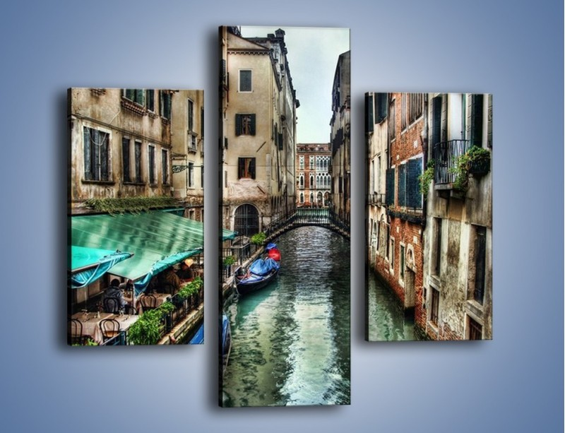 Obraz na płótnie – Wenecka uliczka w kolorach HDR – trzyczęściowy AM374W3