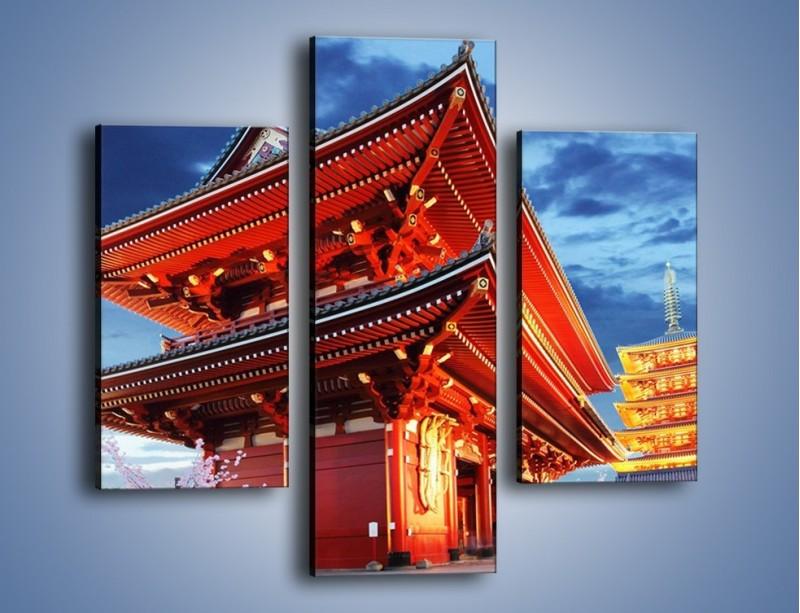 Obraz na płótnie – Świątynia Senso-ji w Tokyo – trzyczęściowy AM378W3