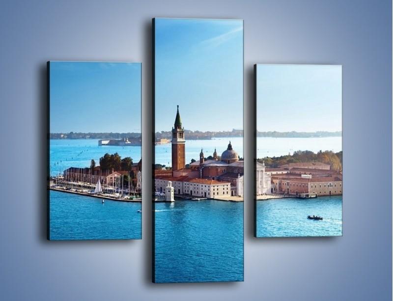 Obraz na płótnie – Wyspa San Giorgio Maggiore – trzyczęściowy AM380W3