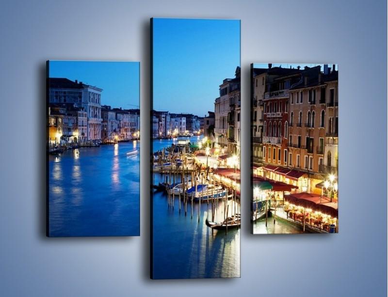 Obraz na płótnie – Zmierzch nad Wenecją – trzyczęściowy AM389W3